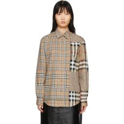 Beige Vintage Check Scales Shirt