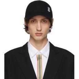 Black Pique Embroidered Baseball Cap