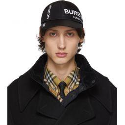 Black Nylon Casual Baseball Cap