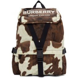 Brown & White Small Wilfin Backpack