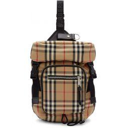 Beige Leo Belt Backpack