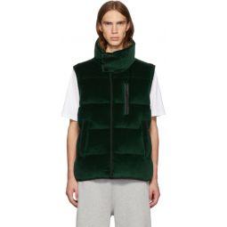 Green Down Velour Vest