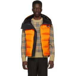 Orange Down Winslow Hooded Vest
