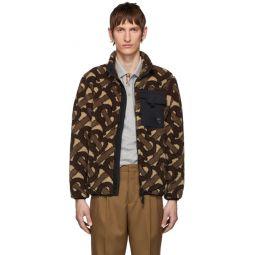 Brown Fleece Monogram Jacquard Jacket