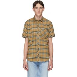 Beige Check Classic Shirt