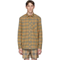 Beige Classic Check Shirt