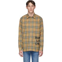 Beige Sandor Check Shirt
