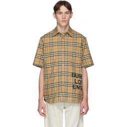 Beige Vintage Check Oversized Sandor Shirt