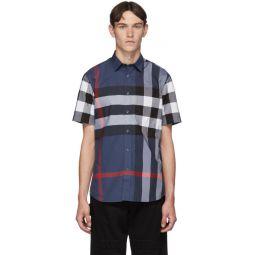 Blue Check Slim Shirt