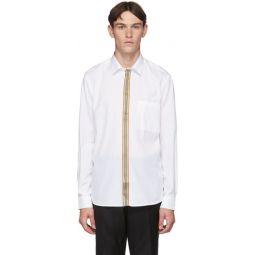 White Icon Stripe Shirt