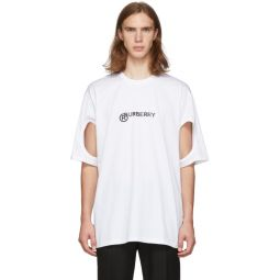 White Logo Cut-Out T-Shirt