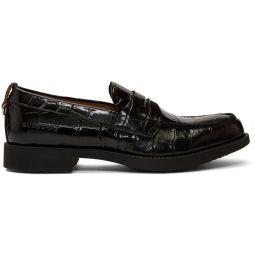Black Croc Emile G Loafers