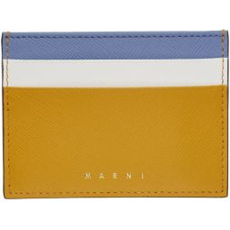 Yellow & Blue Colorblock Card Holder