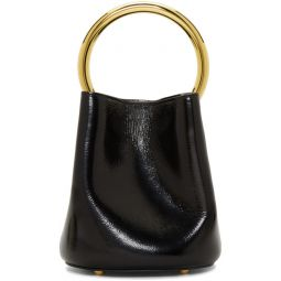 Black Pannier Bucket Bag