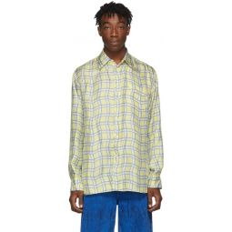 Yellow Silk Check Shirt