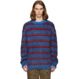Blue & Red Mohair Sweater