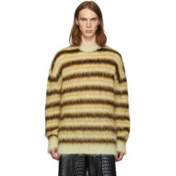 Yellow Striped Gauze Sweater