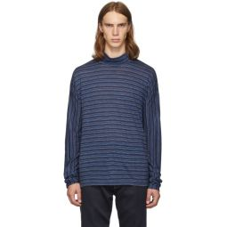 Blue Stripes Turtleneck