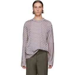 Multicolor Stripe Long Sleeve T-Shirt