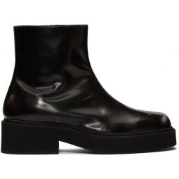 Black Washed Chelsea Boots