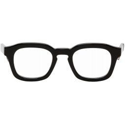Black Notched Square Glasses