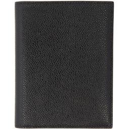 Black Pebbled Passport Holder