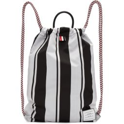 Black & White Drawcord Bag