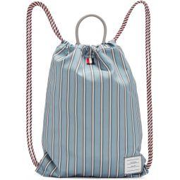 Blue Drawcord Bag