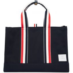Navy East/West Tote