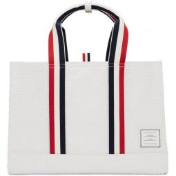 White Bubble Wrap East-West Tote