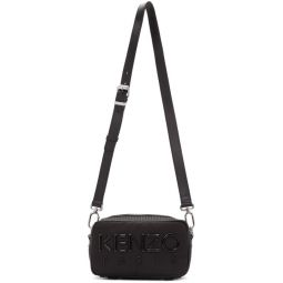 Black Logo Crossbody Bag
