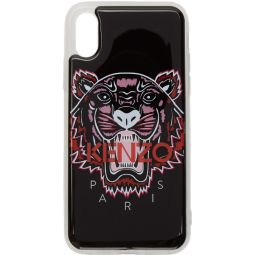 Black 3D Tiger Logo iPhone X/XS Case