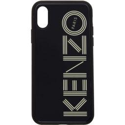 Black Glow-In-The-Dark Logo iPhone X/XS Case