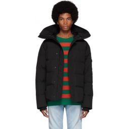 Black Down Quilted Puffer Jacket