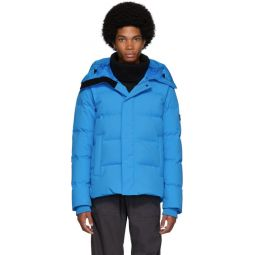 Blue Down Quilted Puffer Jacket