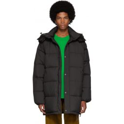 Black Down 2-In-1 Long Puffer Jacket