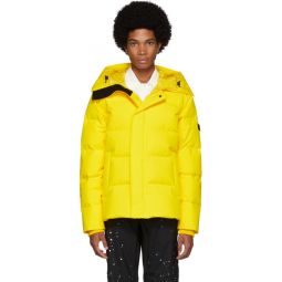Yelow Down Quilted Puffer Jacket