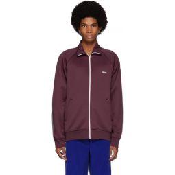 Burgundy Zipped Track Jacket