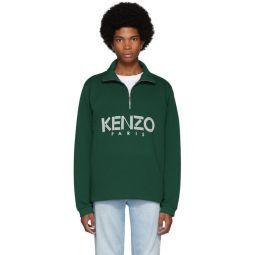 Green Sport Half-Zip Sweatshirt