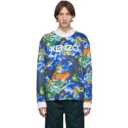 Blue Kenzo World Sweatshirt