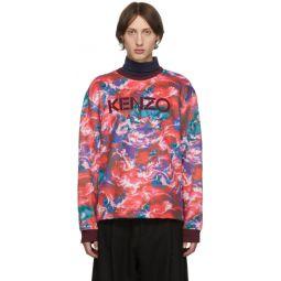 Red Kenzo World Sweatshirt