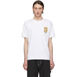 White Limited Edition Embroidered Dragon T-Shirt