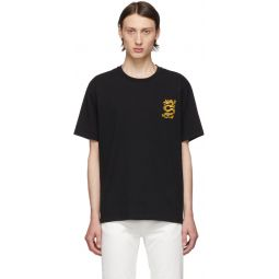 Black Limited Edition Embroidered Dragon T-Shirt