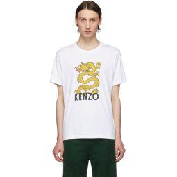 White Limited Edition Dragon Logo T-Shirt