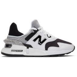 White & Black 997 Sport Sneakers