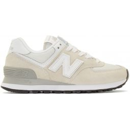 White & Grey 574 Core Sneakers