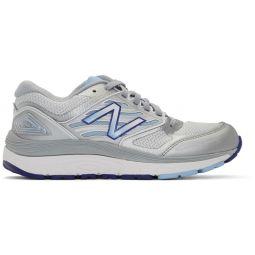 White & Silver 1340v3 Sneakers