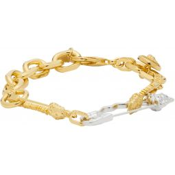 Gold & Silver Medusa Safety Bracelet