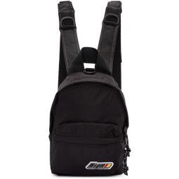 Black Mini Logo Backpack
