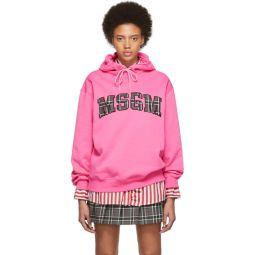 SSENSE Exclusive Pink Logo Hoodie